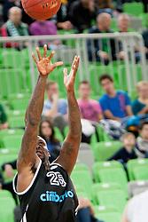 Ebi Ere #25 of Cimberio Varese during basketball match between KK Union Olimpija and  Cimberio Varese (ITA) of 1st Round of Regular season of EuroCup 2013/2014 on October 16, 2013, in SRC Stozice, Ljubljana, Slovenia. (Photo by Urban Urbanc / Sportida)
