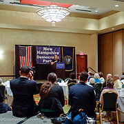 Jen O'Malley Dillion, Obama for America Deputy Campaign Manager, speaks at a NH Democratic Party Breakfast at the 2012 Democratic National Convention