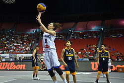 June 9, 2018 - Bulacan, Philippines - Giulia Rulli of Italy drives to the basket during the match up between Italy and Malaysia for the FIBA 3x3 tournament held at the Philippine Arena in the province of Bulacan, north of Manila on 09 June 2018. (Credit Image: © George Calvelo/NurPhoto via ZUMA Press)