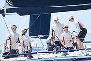 King Felipe VI of Spain compites on board of Aifos 500 during the 37th Copa Del Rey Mafre Sailing Cup on July 30, 2018 in Palma, Spain