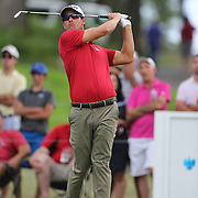 Adam Scott, Australia, in action during the third round of theThe Barclays Golf Tournament at The Ridgewood Country Club, Paramus, New Jersey, USA. 23rd August 2014. Photo Tim Clayton
