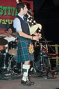 Israel, Nof Ginosar, Outdoor Bagpipe concert, May 2008