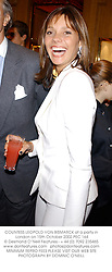 COUNTESS LEOPOLD VON BISMARCK at a party in London on 15th October 2002.		PEC 164
