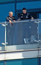 ©Licensed to London News Pictures 22/04/2020  <br /> Chatham, UK. Police on the balcony. A man has been arrested by armed police this morning in Chatham, Kent after wielding guns on a balcony at a Dockside flat. Photo credit:Grant Falvey/LNP