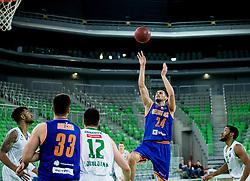 Simo Atanackovic #24 of Helios Suns during basketball match between KK Union Olimpija and KK Helios Suns in Round 8 of Nova KBM 2016/17 Champions League, on March 29, 2017 in Arena Stozice, Ljubljana, Slovenia. Photo by Vid Ponikvar / Sportida