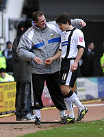 Photo: Dave Linney.<br />Derby County v Plymouth Argyle. Coca Cola Championship. 25/02/2006Derby Mgr.Terry Westly(L) with  Paul Peschisolido