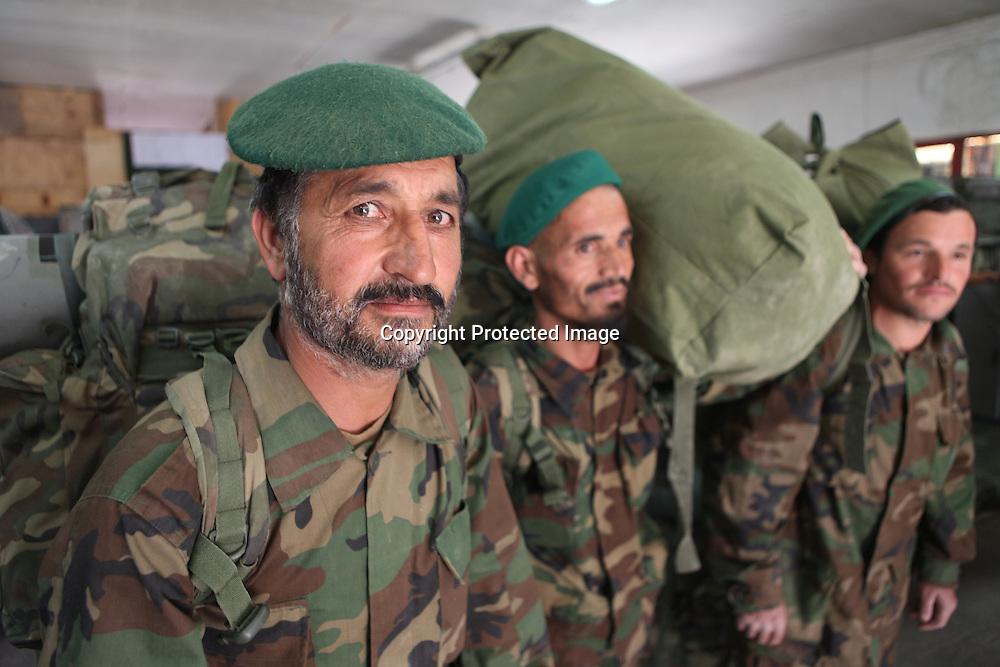 Afghan National Army (ANA) soldiers in Tarin Kowt, Afghanistan
