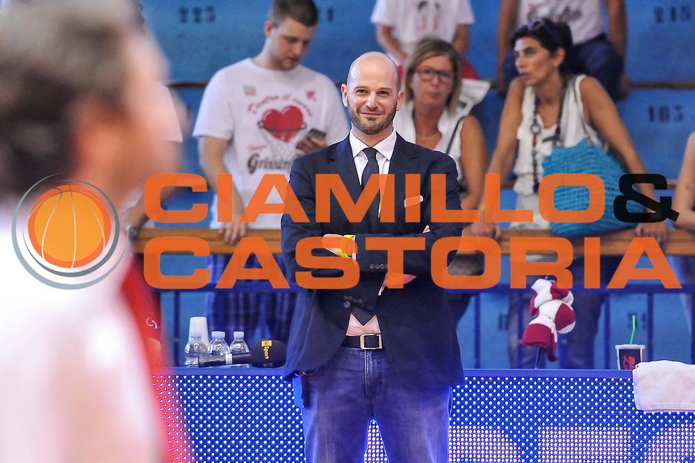 DESCRIZIONE : Campionato 2014/15 Serie A Beko Grissin Bon Reggio Emilia - Dinamo Banco di Sardegna Sassari Finale Playoff Gara7 Scudetto<br /> GIOCATORE : Edi Dembinsky<br /> CATEGORIA : Ritratto Before Pregame<br /> SQUADRA : RAI TV<br /> EVENTO : LegaBasket Serie A Beko 2014/2015<br /> GARA : Grissin Bon Reggio Emilia - Dinamo Banco di Sardegna Sassari Finale Playoff Gara7 Scudetto<br /> DATA : 26/06/2015<br /> SPORT : Pallacanestro <br /> AUTORE : Agenzia Ciamillo-Castoria/L.Canu