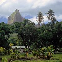 Oceania, South Pacific, French Polynesia, Tahiti. Scenic landscape of Bora Bora.