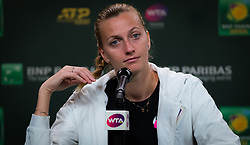 March 9, 2019 - Indian Wells, USA - Petra Kvitova of the Czech Republic talks to the media after her second-round match at the 2019 BNP Paribas Open WTA Premier Mandatory tennis tournament (Credit Image: © AFP7 via ZUMA Wire)