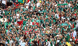 Mexico and Germany fans during the game