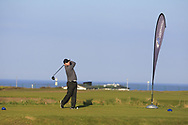 Paul O'Hanlon (Carton House) on the 1st tee during Round 4 of The West of Ireland Open Championship in Co. Sligo Golf Club, Rosses Point, Sligo on Sunday 7th April 2019.<br /> Picture:  Thos Caffrey / www.golffile.ie