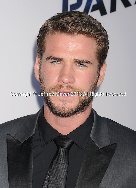 LOS ANGELES, CA- AUGUST 08: Actor Liam Hemsworth arrives at the 'Paranoia' - Los Angeles Premiere at DGA Theater on August 8, 2013 in Los Angeles, California.