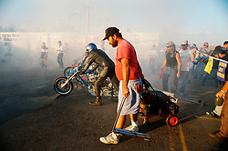 Staging before the Start. Sturgis, SD, 1994<br /> <br /> Limited Edition Print from an edition of 50. Photo ©1997 Michael Lichter.