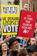 In Parliament Square for speeches - It is estimated that over a million people joined the Put it to the People March from Park Lane to Parliament. Organised by the Peoples-Vote.UK to demand that, whatever deal is finally agreed, that it is put to the people to finally decide upon.