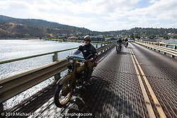 Tom Banks rode his 1921 Harley-Davidson JD in the Motorcycle Cannonball coast to coast vintage run. Stage 15  (51 miles - the Grand Finish) from The Dalles to Stevenson, OR. Sunday September 23, 2018. Photography ©2018 Michael Lichter.
