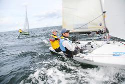 , Kiel - SAP 505er World Championship 2014, 505er, GER 8975, Alexander HOLZAPFEL, Stefan WORM, Post-Sportverein Koblenz e. V. Segelabteilung