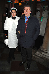 KIMBERLEY FORTIER and her husband STEPHEN QUINN at a Winter Party to celebrate the opening of the Ice Rink at Somerset House, London in association with jewellers Tiffany on 20th November 2007.<br /><br />NON EXCLUSIVE - WORLD RIGHTS