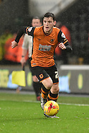 Hull City defender Andrew Robertson  during the Sky Bet Championship match between Hull City and Bolton Wanderers at the KC Stadium, Kingston upon Hull, England on 12 December 2015. Photo by Ian Lyall.