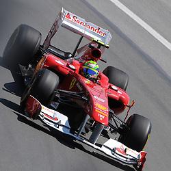 Brazilian Felipe Massa pilots the Ferrari 150th Italia during practice for the 2011 Formula 1 Canadian Grand Prix, Montral, QC.