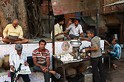 Tea stall under an ancient tree. Jodhpur - The Blue CIty - was historically the capital of the Kingdom of Marwar, now part of Rajasthan. It is the most important city of Rajasthan after the capital Jaipur, central to the Thar desert region and its colourful culture.