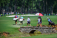 The lead group of Su Oh (AUS), Ariya Jutanugarn (THA), and Sarah Jane Smith (AUS) heads down 2 during round 3 of the U.S. Women's Open Championship, Shoal Creek Country Club, at Birmingham, Alabama, USA. 6/2/2018.<br /> Picture: Golffile | Ken Murray<br /> <br /> All photo usage must carry mandatory copyright credit (© Golffile | Ken Murray)