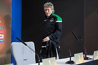 Sporting de Lisboa coach Jorge Jesus during press conference the day before Europa League match between Atletico de Madrid and Sporting de Lisboa at Wanda Metropolitano in Madrid, Spain. April 04, 2018. (ALTERPHOTOS/Borja B.Hojas)