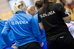 During handball match between Women National Teams of Slovenia and Czech Republic of 2nd Round of EURO 2018 Qualifications, on 1st October, 2017 in Dvorana Zlatorog, Celje, Slovenia. Photo by Urban Urbanc / Sportida