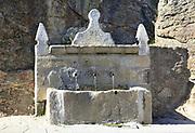 Nineteenth century water supply system, Cuacos de Yuste, La Vera, Extremadura, Spain dated 1891