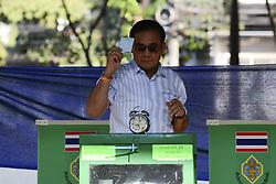 March 24, 2019 - Bangkok, Thailand - Prime Minister Prayuth Chan-Ocha during voting at his local polling station voting in Bangkok, Thailand, 24 March, 2019. (Credit Image: © Anusak Laowilas/NurPhoto via ZUMA Press)