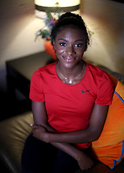 Dina Asher-Smith during a media interview with the Press Association, at The Curtain hotel in London.