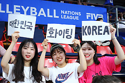 TIFOSI KOREANI<br /> ITALIA - KOREA<br /> PALLAVOLO VNL VOLLEY PERUGIA <br /> PERUGIA 12-06-2019<br /> FOTO GALBIATI - RUBIN