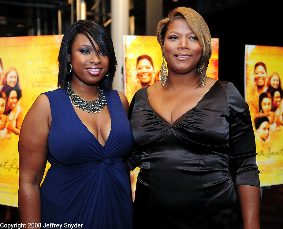 "Jennifer Hudson and Queen Latifah attend the screening of ""The Secret Life of Bees"""