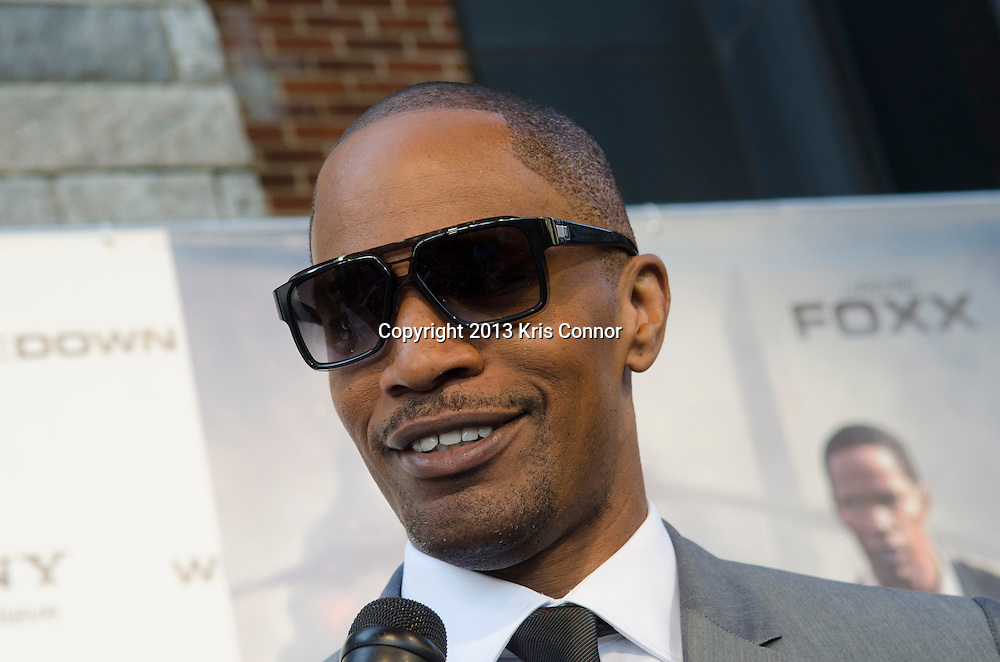 WASHINGTON DC JUNE 21: Jamie Foxx poses on the red carpet during the DC premiere of White House Down at AMC Georgetown in Washington DC on June 21, 2013.<br /> Photo by Kris Connor/Sony Pictures