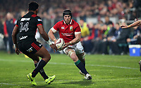 Rugby Union - 2017 British & Irish Lions Tour of New Zealand - Crusaders vs. British & Irish Lions<br /> <br /> Sean O'Brien of The Lions tries to get past Seta Tamanivalu of The Crusaders at AMI Stadium [Rugby League Park], Christchurch.<br /> <br /> COLORSPORT/LYNNE CAMERON