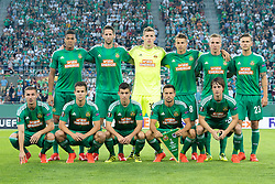 15.09.2016, Weststadion, Wien, AUT, UEFA EL, SK Rapid Wien vs KRC Genk, Gruppe F, 1. Runde, im Bild Mannschaftsfoto von Rapid, 1. Reihe v.l. Mario Pavelic (SK Rapid Wien), Louis Schaub (SK Rapid Wien), Tamas Szanto (SK Rapid Wien), Thomas Schrammel (SK Rapid Wien), Ivan Mocinic (SK Rapid Wien), 2. Reihe v.l. Joelinton (SK Rapid Wien), Christoph Schoesswendter (SK Rapid Wien), Richard Strebinger (SK Rapid Wien), Stefan Schwab (SK Rapid Wien), Christopher Dibon (SK Rapid Wien), Arnor Ingvi Traustason (SK Rapid Wien)// during a UEFA Europa League, group F, 1st Round match between SK Rapid Vienna and KRC Genk at the Weststadion, Vienna, Austria on 2016/09/15. EXPA Pictures © 2016, PhotoCredit: EXPA/ Sebastian Pucher