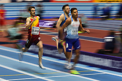 March 2, 2018 - Birmingham, England, United Kingdom - lvaro De Arriba of Spain at 800 meter semi final at World indoor Athletics Championship 2018, Birmingham, England on March 2, 2018. (Credit Image: © Ulrik Pedersen/NurPhoto via ZUMA Press)