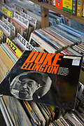 A Duke Ellington vinyl on sale at Wanted Music record shop in Beckenham on the 4th May 2018 in South London in the United Kingdom.