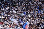 Coreografia Fortitudo Bologna<br /> Kontatto Fortitudo Bologna - Virtus Segafredo Bologna<br /> Lega Nazionale Pallacanestro 2016/2017<br /> Bologna, 14/04/2017<br /> Foto Ciamillo-Castoria / M. Brondi