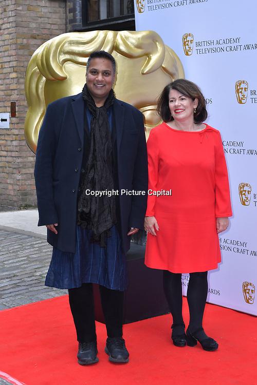 Krishnendu Majumdar and Pippa Harris Arrivers at the British Academy Television Craft Awards on 28 April 2019, London, UK.