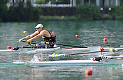 Bled, SLOVENIA,   Adaptive Rowing, ASM1X, Tom AGGAR, moves  away from the start, in his semi final on the second day, FISA World Cup , Bled held on Lake Bled.  Saturday  29/05/2010  [Mandatory Credit Peter Spurrier/ Intersport Images] Cop last event as international level.