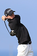 Luke O'Neill on the 1st tee during Round 4 of The West of Ireland Open Championship in Co. Sligo Golf Club, Rosses Point, Sligo on Sunday 7th April 2019.<br /> Picture:  Thos Caffrey / www.golffile.ie
