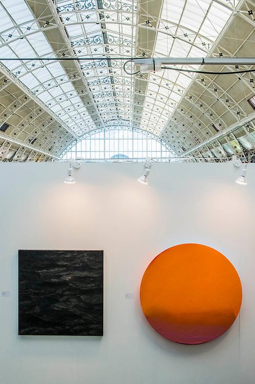 More Orange by Trevor Bell. London Art Fair opens at the Business Design Centre, Islington, London.