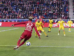 STYLEPREPENDMichael Murillo (62) of Red Bulls controls ball during 2nd leg MLS Cup Eastern Conference semifinal game against Columbus Crew SC at Red Bul Arena Red Bulls won 3 - 0 agregate 3 - 1 and progessed to final  (Credit Image: © Lev Radin/Pacific Press via ZUMA Wire)