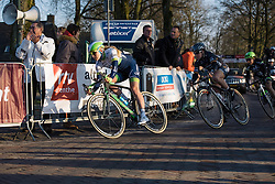 Gracie Elvin onto the final lap in Dwingeloo - Ronde van Drenthe 2016, a 138km road race starting and finishing in Hoogeveen, on March 12, 2016 in Drenthe, Netherlands.