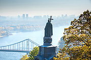 Ukraine, Kyiv, Saint Volodymyr Monument, Dedicated To The Great Prince of Kyiv, Volodymyr The Great,  Baptizer Of The Rus' People , Built In 1853, Overlooking The Dnieper River, Volodymyr Hill Park