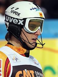 Brad Spence at 9th men's slalom race of Audi FIS Ski World Cup, Pokal Vitranc,  in Podkoren, Kranjska Gora, Slovenia, on March 1, 2009. (Photo by Vid Ponikvar / Sportida)