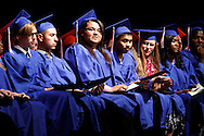 Prospects High School seniors wait to receive their diplomas during graduation at Antioch High School on Tuesday, June 5, 2012.   (Photo by Kevin Bartram)