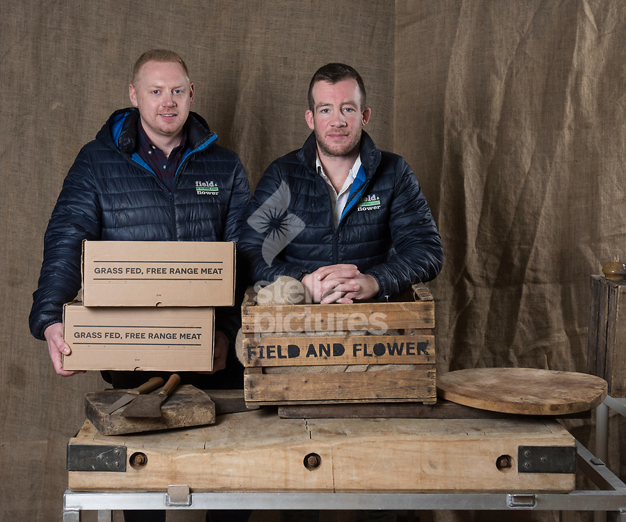 James Mansfield (left) and James Flower of Field and Flower<br /> Field and Flower deliver traditionally free range, reared by British farmers, online.<br /> Picture by Daniel Hambury/Stella Pictures Ltd 07813022858<br /> 05/12/2017