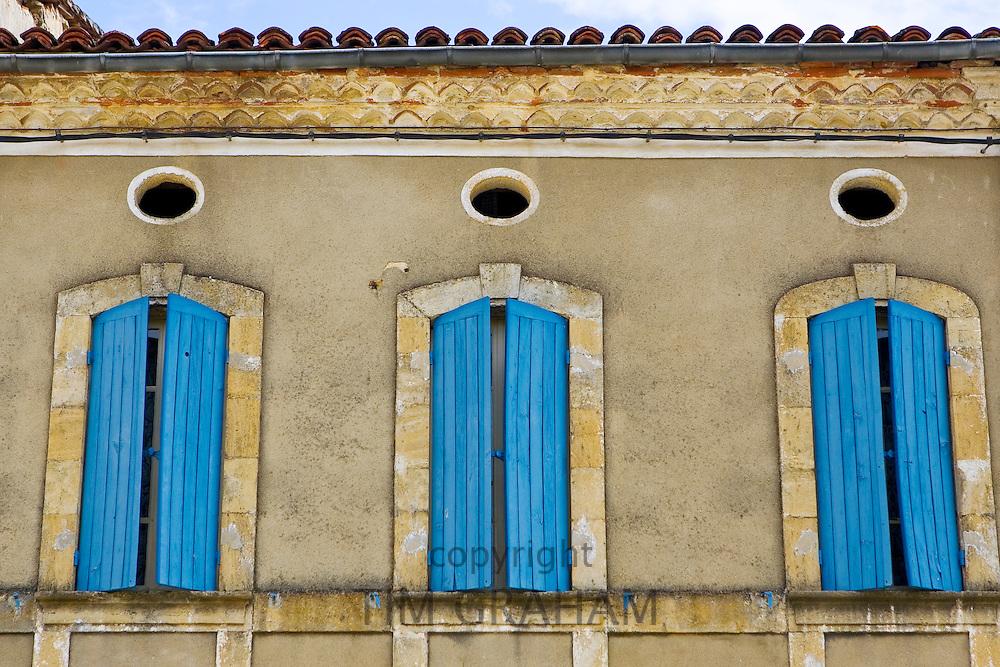 Window shutters, Bastide d'Armagnac, France